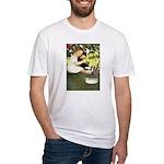 Little Girl Loves Her Kitty Fitted T-Shirt