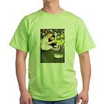 Little Girl Loves Her Kitty Green T-Shirt