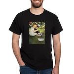 Little Girl Loves Her Kitty Dark T-Shirt
