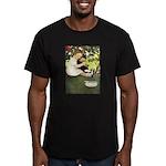 Little Girl Loves Her Kitty Men's Fitted T-Shirt (