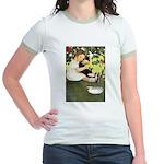 Little Girl Loves Her Kitty Jr. Ringer T-Shirt