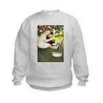 Little Girl Loves Her Kitty Kids Sweatshirt