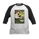 Little Girl Loves Her Kitty Kids Baseball Jersey
