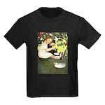 Little Girl Loves Her Kitty Kids Dark T-Shirt