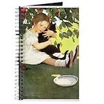 Little Girl Loves Her Kitty Journal