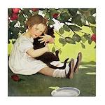 Little Girl Loves Her Kitty Tile Coaster