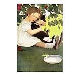 Little Girl Loves Her Kitty Postcards (Package of