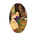 Babes In The Wood Oval Car Magnet