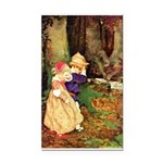 Babes In The Wood Rectangle Car Magnet