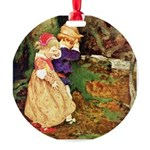 Babes In The Wood Round Ornament