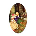 Babes In The Wood 20x12 Oval Wall Decal