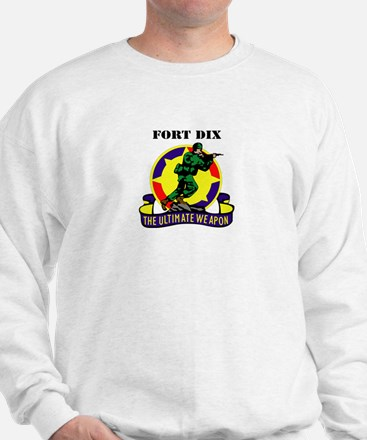 Fort Dix with Text Sweatshirt