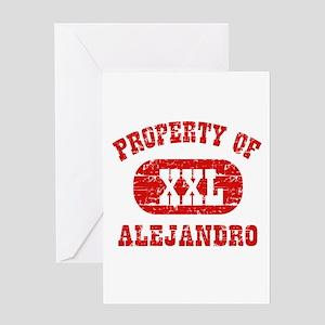 Property Of Alejandro Greeting Card
