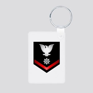 Navy PO3 Quartermaster Aluminum Photo Keychain