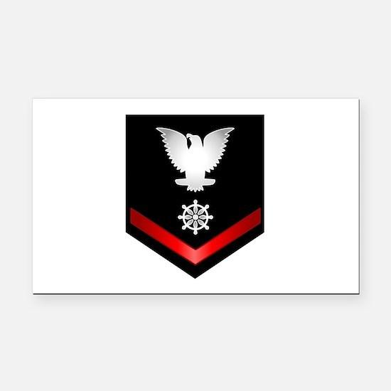 Navy PO3 Quartermaster Rectangle Car Magnet