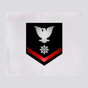 Navy PO3 Quartermaster Throw Blanket