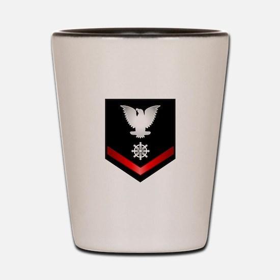 Navy PO3 Quartermaster Shot Glass