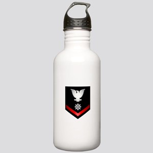 Navy PO3 Quartermaster Stainless Water Bottle 1.0L