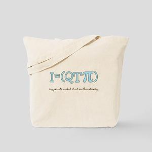 QT pi baby boy Tote Bag