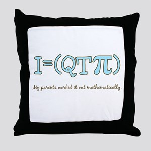 QT pi baby boy Throw Pillow