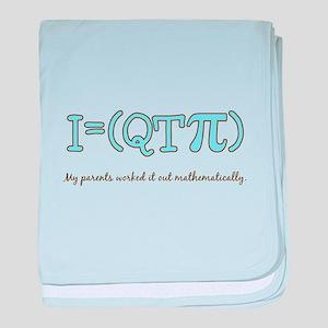 QT pi baby boy baby blanket