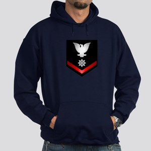 Navy PO3 Quartermaster Hoodie (dark)