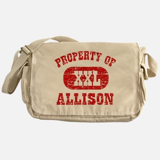 Property Of Allison Messenger Bag