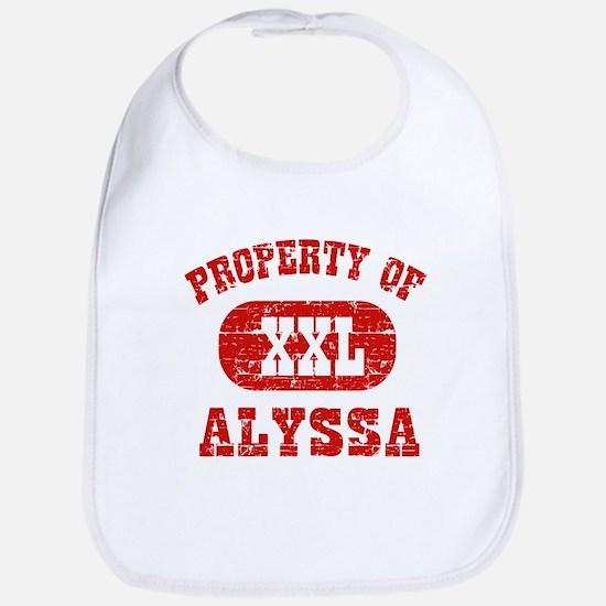 Property Of Alyssa Bib