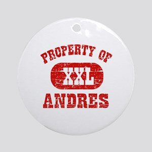 Property Of Andres Ornament (Round)