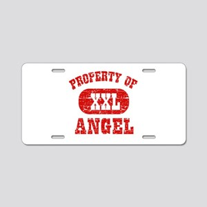 Property Of Angel Aluminum License Plate