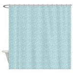 Blue Water Look Shower Curtain