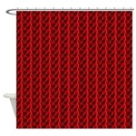 Red Lightning Look Shower Curtain