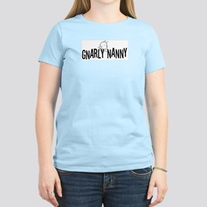 """gnarly nanny """"creature"""" pink tee"""