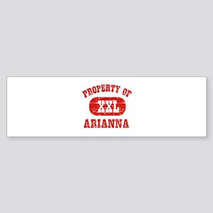 Property Of Arianna Sticker (Bumper)