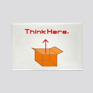 Think Here Rectangle Magnet