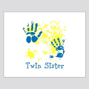 Twin Sister. Splat Design. Small Poster