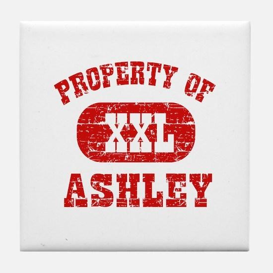 Property Of Ashley Tile Coaster