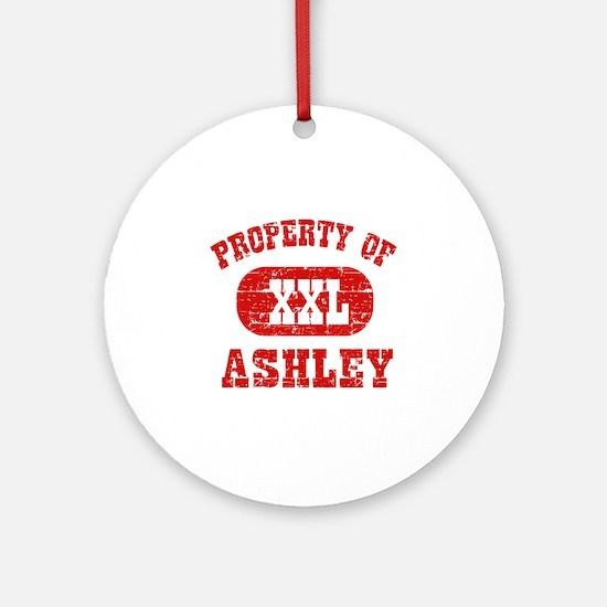 Property Of Ashley Ornament (Round)