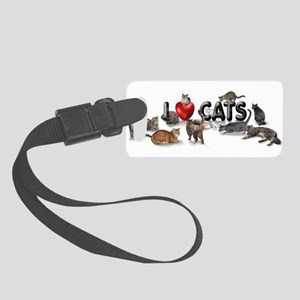 "Small Luggage Tag ""I love Cats"""
