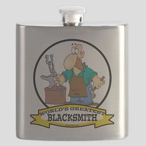 WORLDS GREATEST BLACKSMITH CARTOON Flask