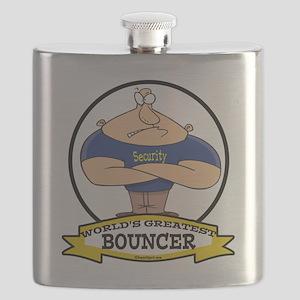 WORLDS GREATEST BOUNCER CARTOON Flask