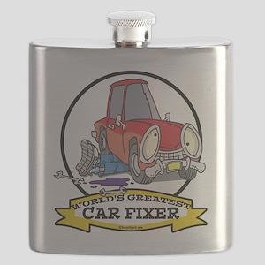 WORLDS GREATEST CAR FIXER CARTOON Flask