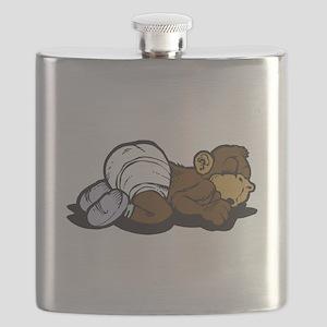 sleeping baby monkey Flask
