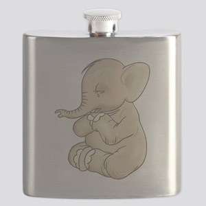 sad praying elephant Flask