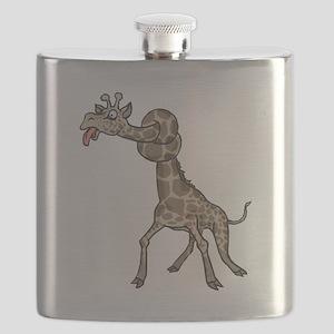 giraffe in knots Flask