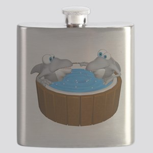sharks in a hot tub Flask