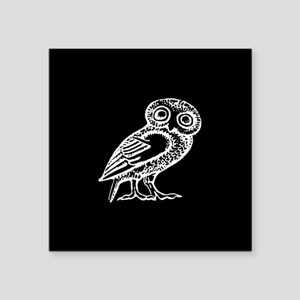 "Athenas Owl Square Sticker 3"" x 3"""