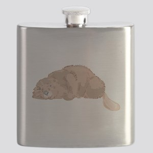 resting beaver Flask