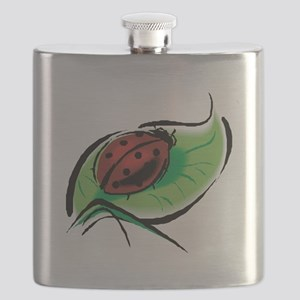 ladybug on leaf copy Flask