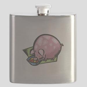 fat round cute pig copy Flask